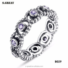 Fashion value wedding fit pandora rings China wholesale jewelry set 925 silver ring