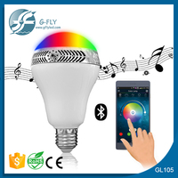 2015 new arrival indoor fashion colorful smart led bulb speaker bluetooth led light bulb