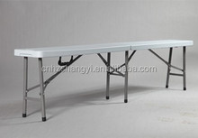 hot popular Blow-molded dining/study/garden fold up plastic bench 10-12 persons