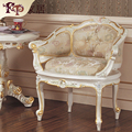 Antique hand carved chair furniture European classic furniture rubber wood chair