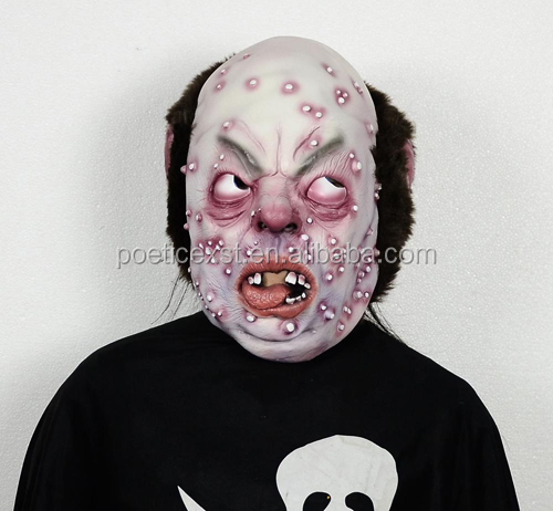 Cheap Halloween party supplies horror latex mask Ugly monster masks