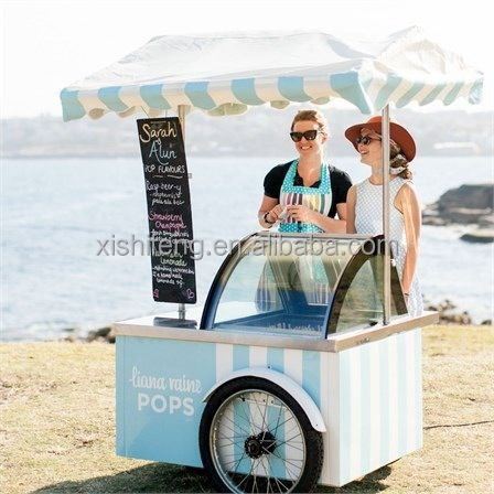 XSFLG electric ice cream gelato dispaly push cart for sale (CE approved)