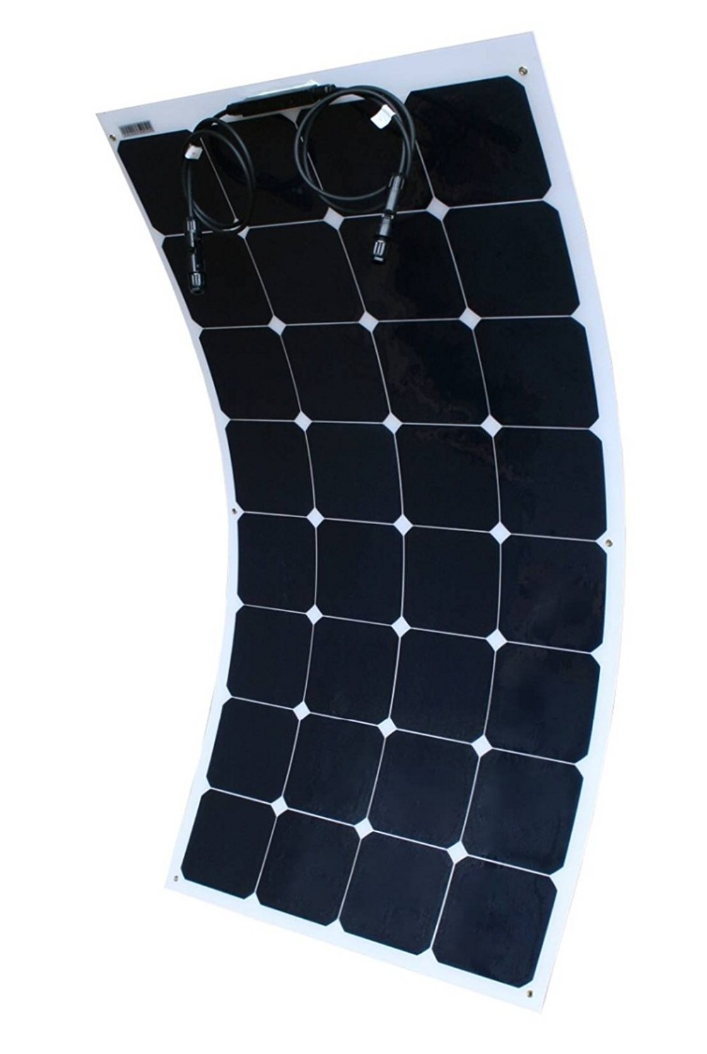 21.5% High Efficiency 100W Sunpower Back Contact Cells Semi Flexible Solar Panel for RV