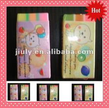 2012 lovely multicolour extruder office eraser