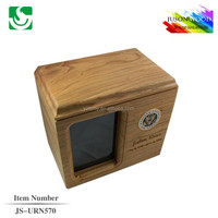 JS-URN570 wholesale memorial solid wood urn for ashes