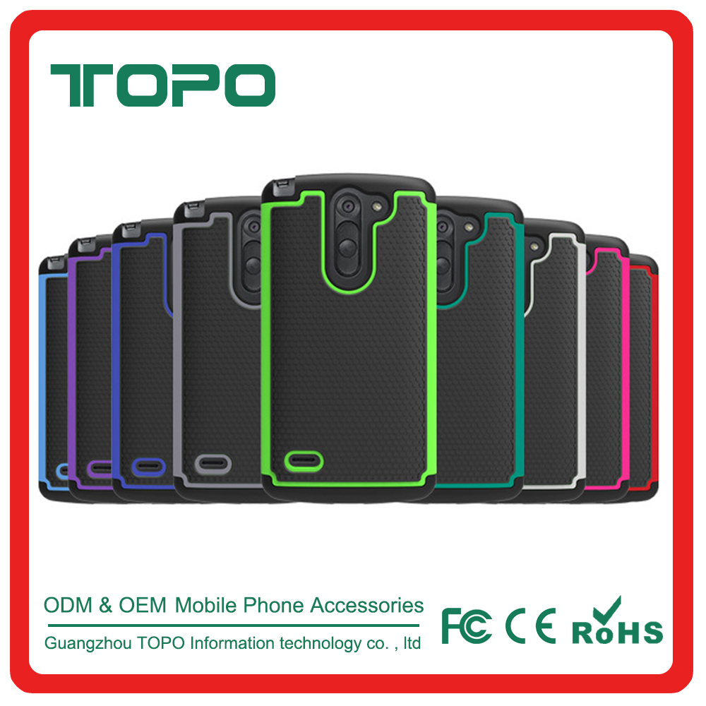[TOPO] Wholesale PC Silicone Material Shockproof football skin Mobile Phone Case for LG G3 stylus D690