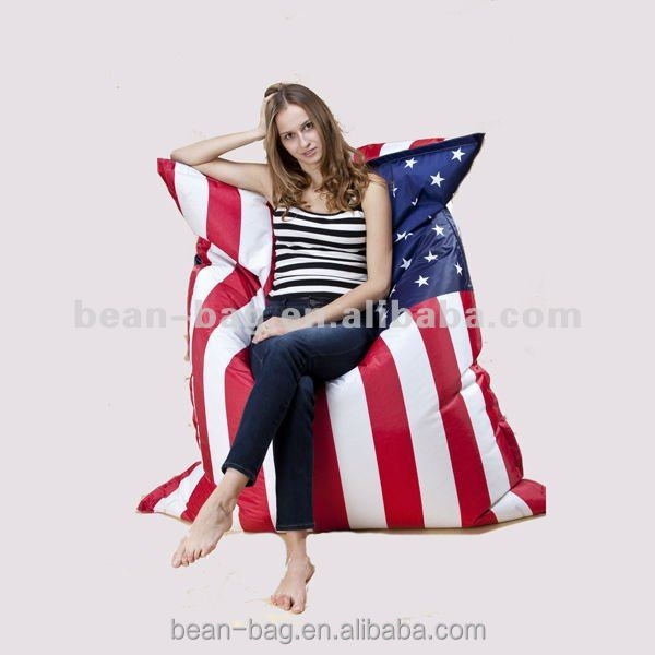 Digital UK Flag Printing Big Pillow Bean Bag for Sitting and lying Manufacturer