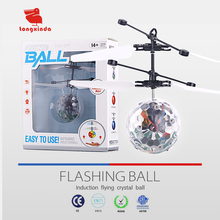 TXD-377 Mini Children Flying RC Ball Flashing Light Aircraft Helicopter Infrared Induction RC Toy