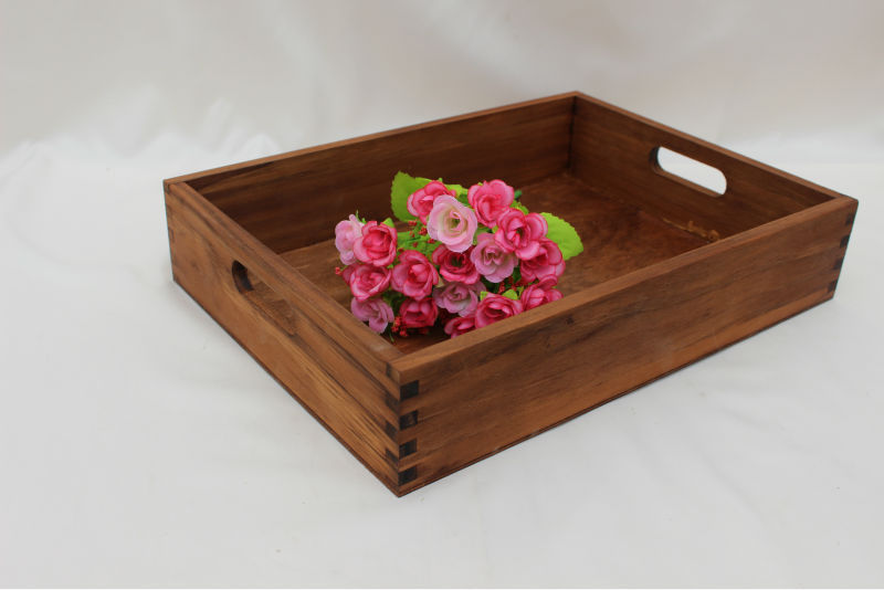 Made in Caoxian Tongshun antique wholesale wooden tray