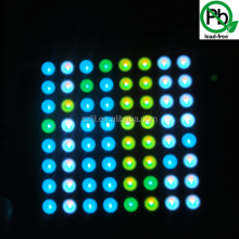 High quality 3.7mm Dot 8x8 RGB led matrix with 7.62mm pitch