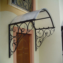 Wrought iron shade awning