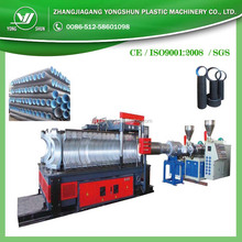 PVC/PE plastic double wall corrugated pipe extrusion machinery/extruder in china