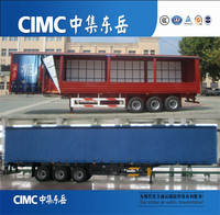 CIMC 3 axle box trailer,cargo semitrailer for sale