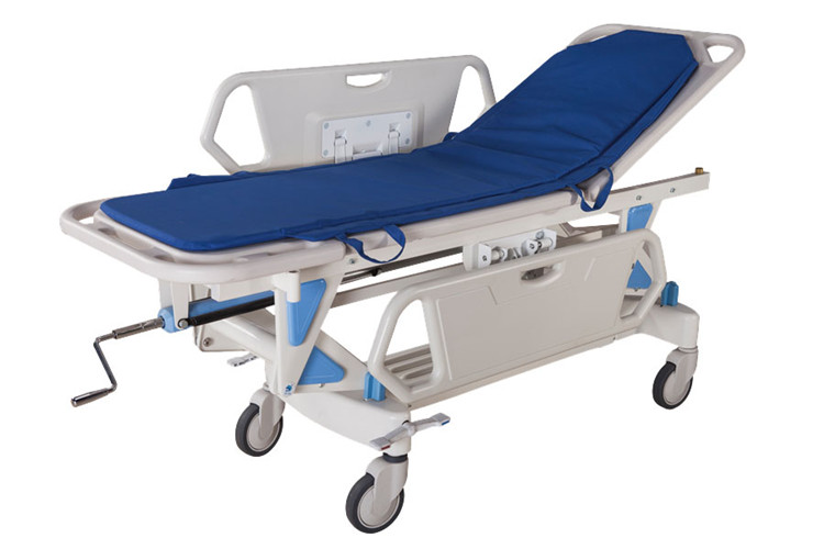 High quality hydraulic hospital patient stretcher transfer trolley
