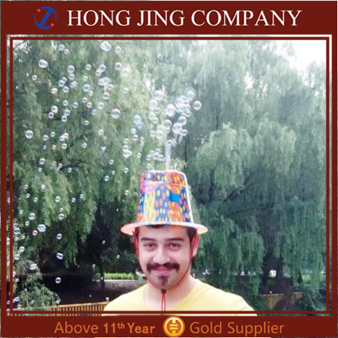 Popular 2016 Hot Sell Soap Bubble Hat Toy, Soap Bubble Machine