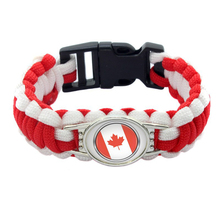 Cmart 2018 World Cup Canada Country Flags Parachute Cord Paracord Bracelet