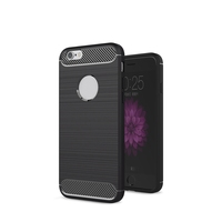 Phone Accessories Mobile Cover Carbon Fiber Brushed Soft Slim TPU Hybrid Gel Case for iphone 7
