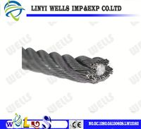 China Supplier Galvanized Steel Wire Rope for Lifting or Elevator