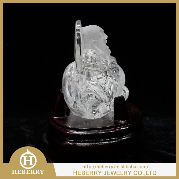 crafts business gifts office desk ornament home decoration crystal buddha statue figurine