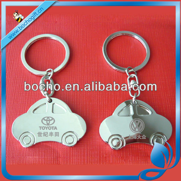 metal car shaped key tag