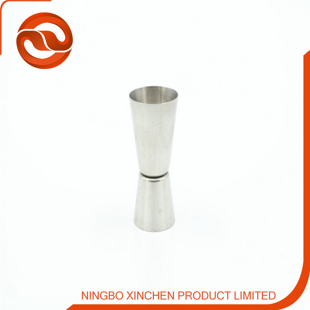 stainless steel double end bar jigger / logo printing metal jigger for promotion