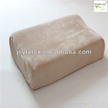 Knitted velure fabric double latex pillow