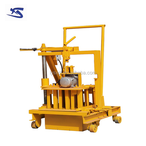 low investment high profit business QT40-3C egg laying small manual brick machine