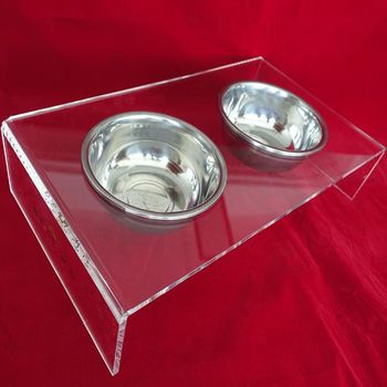 acrylic/lucite pet dog bed and pet dinning table