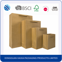 New product recycle eco friendly brown shopping kraft paper bag