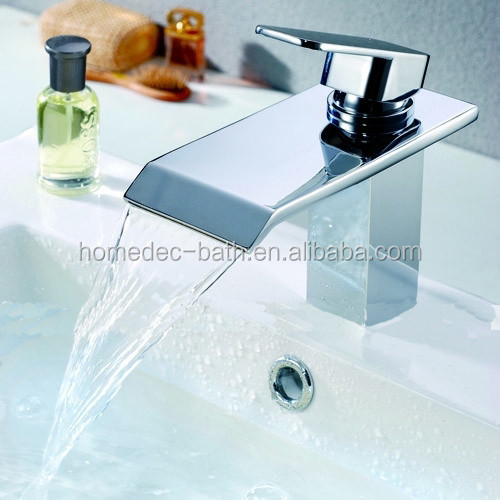 Single Handle Brass chrome polished Waterfall Basin faucet