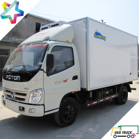Foton Ollin 4.3m refrigerated truck body with stainless steel meat hanging hook meat hook reefer truck