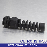 PG16 Nylon power PVC cable glands with strain relief steel rope