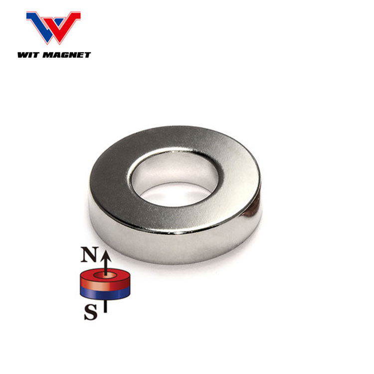 customized radial magnetization neodymium ring magnet uni pole radial neodymium ring magnet
