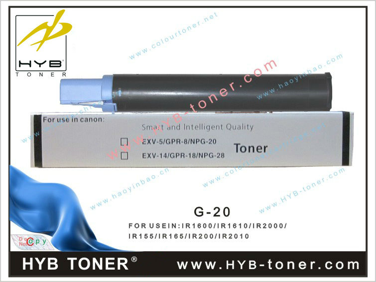 Compatible Toner NPG20/GPR-8/C-EXV-5 for Canon IR-1600/1610/1630/1670/2000/2010