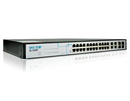 UTT SL1628F-F 24 port Layer 2 <strong>L2</strong> managed Rack Mount Ethernet Network Switch for Office, SOHO, SMB
