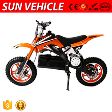 Safe Adjustable Aluminum Exhaust System Electric Dirt Bike 500W