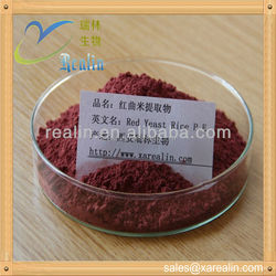 manufacturer supply 100% Natural Red Yeast Rice Extract powder,red yeast rice powder