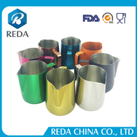 Taobao Amazon Suppliers wholesale colorful stainless steel milk jug
