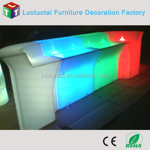 led/light up bar counter for disco/club/restaurant/hotel