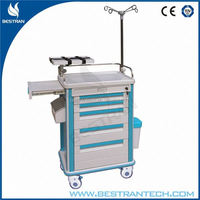 CE ISO apporved hospital lightweight abs surgery trolley