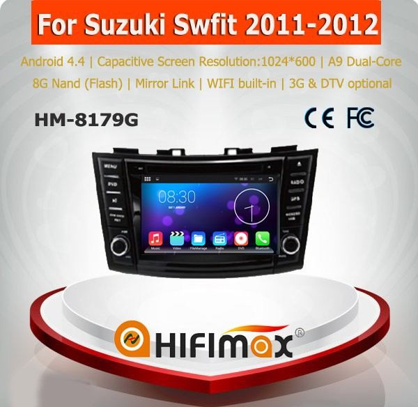Hifimax 7'' Android 5.1 touch screen car dvd gps for suzuki swift car multimedia player built-in wifi 3G Internet