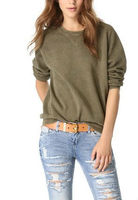 French Terry O-neck Sport Sweatshirt Keep Warm Long Sleeves Apparel