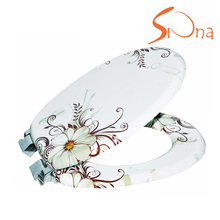 Wholesale hygienic beautiful custom flower print bidet toilet seat