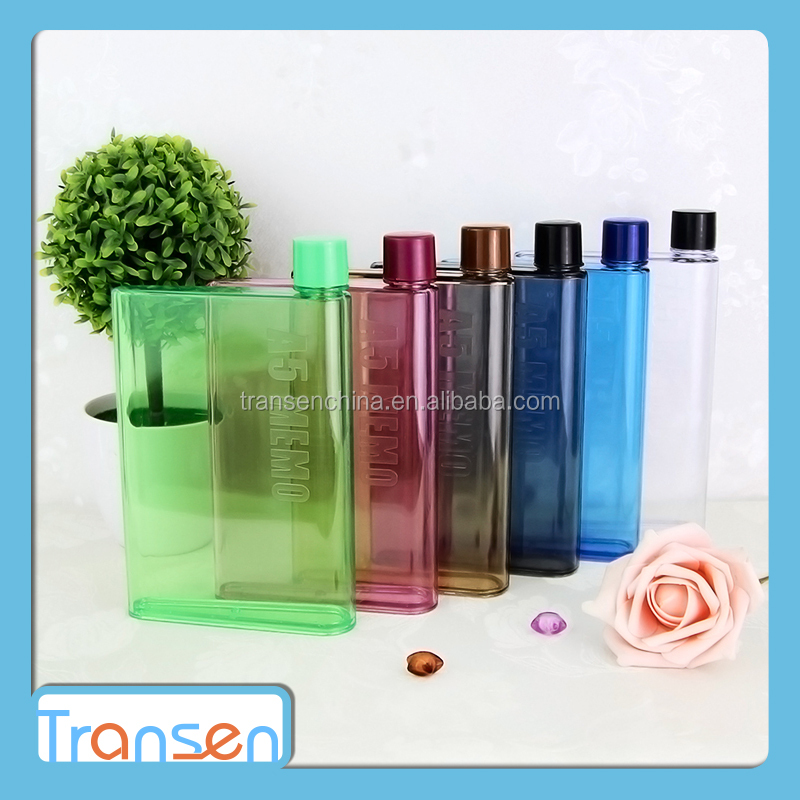 2017 new products wholesales portable sport water drink cup BPA Free memo A5 size notebook water bottle for school
