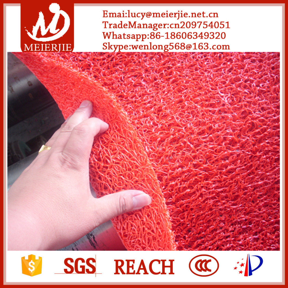 best quality anti slip pvc coil mat without backing carpet runner