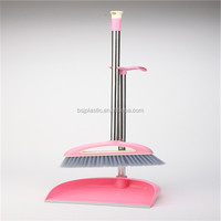 BSJ#313 household cleaning broom and dustpan ,household besom assembly,plastic garden cleaning broom