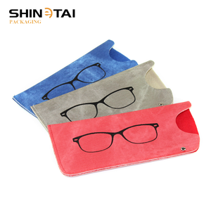 China Online Selling Cheap PU Leather Sunglasses And Eyeglasses Pouch Case