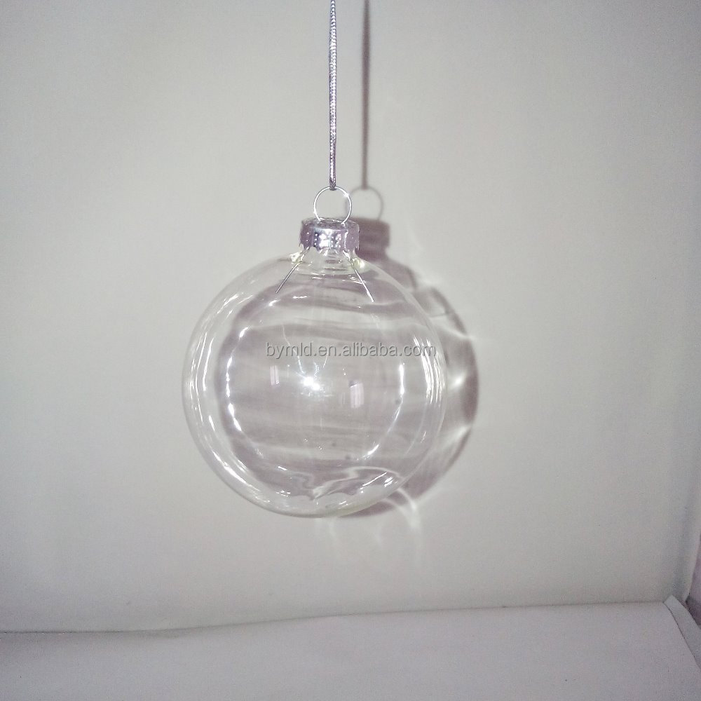 Wholesale cm clear glass hollow christmas ball ornaments