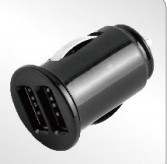 Dual black 2a micro usb car charger