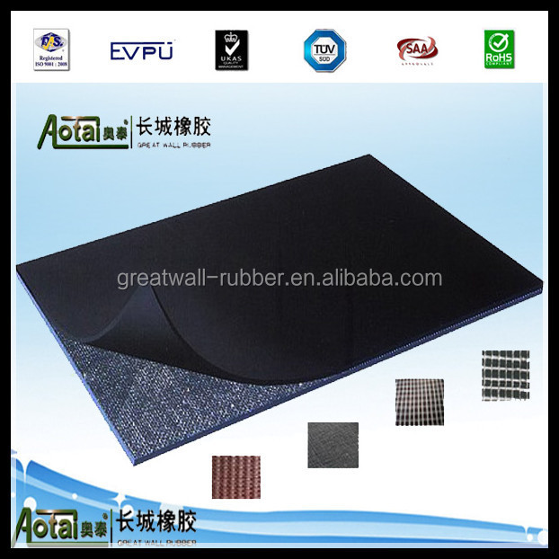 Cloth Insertion EP Fabric Rubber Flooring Mat